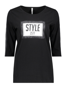 Zoso T-shirt SAKS PRINTED T SHIRT 194 BLACK/ANTRA