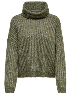 Only Trui ONLCHUNKY L/S ROLLNECK PULLOVER KNT 15187654 Desert Sage/W. MULTI M