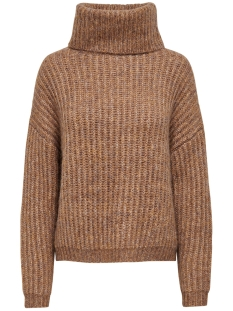 Only Trui ONLCHUNKY L/S ROLLNECK PULLOVER KNT 15187654 Camel/W. MULTI M