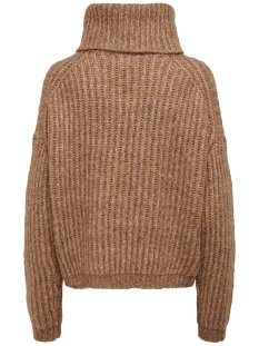 onlchunky l/s rollneck pullover knt 15187654 only trui camel/w. multi m