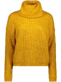 Only Trui ONLCHUNKY L/S ROLLNECK PULLOVER KNT 15187654 Golden Yellow Detail:W