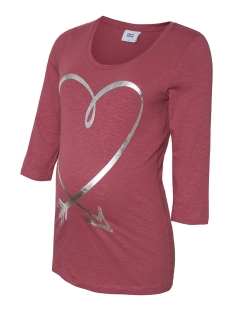 Mama-Licious Positie shirt MLDIDI 3/4 JERSEY TOP A. 20010637 Hawthorn Rose/SILVER FOIL