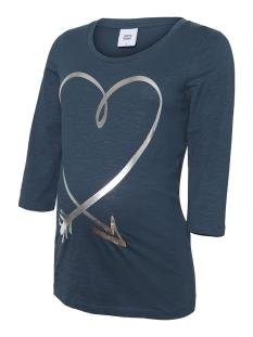Mama-Licious Positie shirt MLDIDI 3/4 JERSEY TOP A. 20010637 Midnight Navy/SILVER FOIL