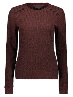 Vero Moda T-shirt VMERIKA LS O NECK JRS 10222172 Madder Brown/MELANGE