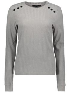 Vero Moda T-shirt VMERIKA LS O NECK JRS 10222172 Light Grey Melange