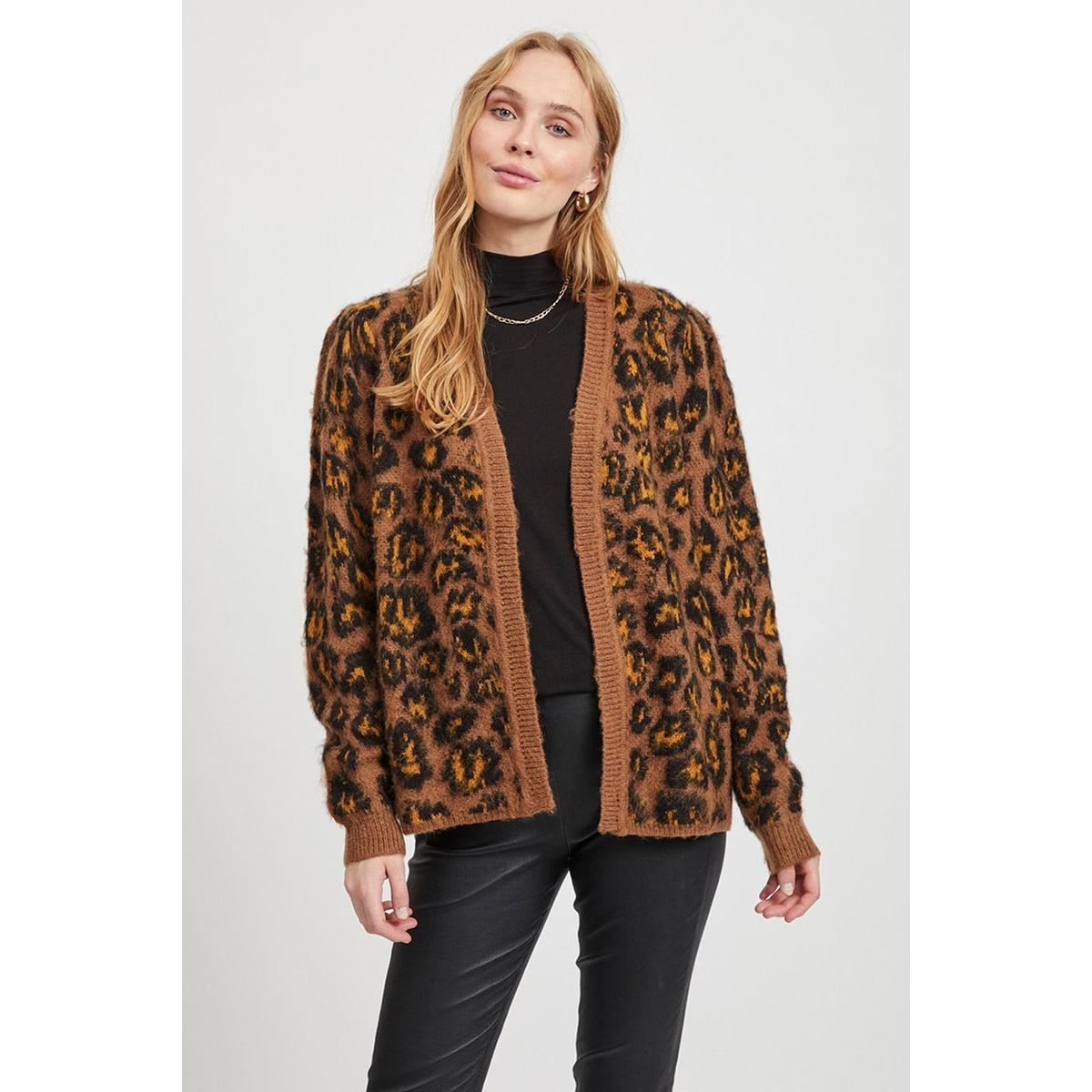 vivild knit l/s cardigan 14053297 vila vest toffee/golden oak