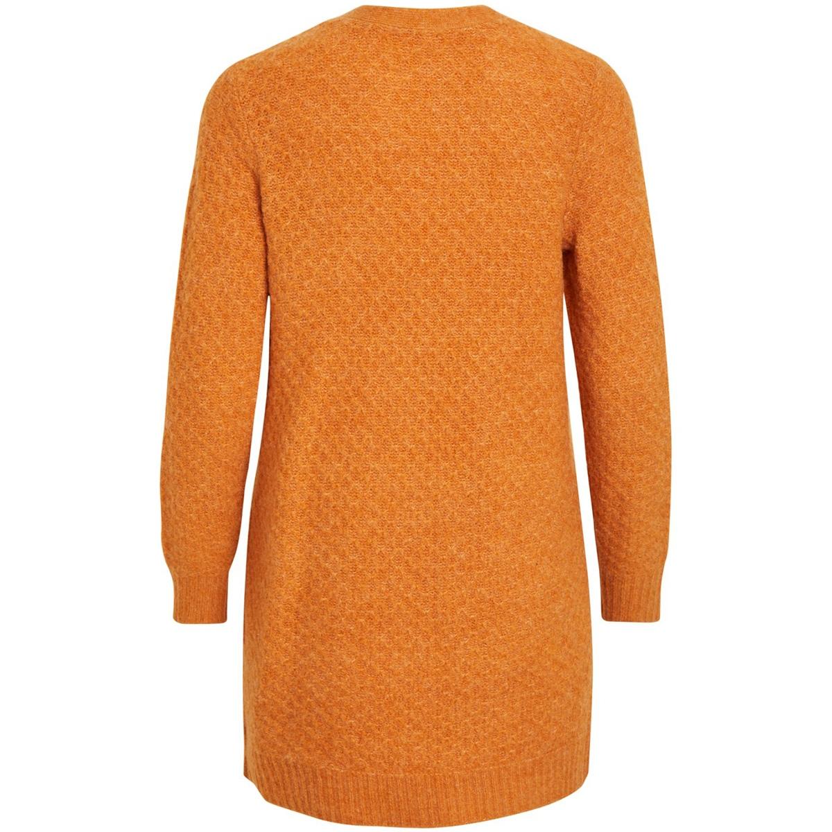 viinfi knit cardigan - noos 14053270 vila vest golden oak/melange
