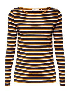 EDC T-shirt LONGSLEEVE MET STRETCH EN WIJDE HALS 089CC1K018 C700