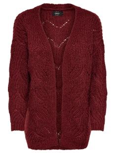 Only Vest ONLHAVANA L/S LONG CARDIGAN CC KNT 15155842 Merlot
