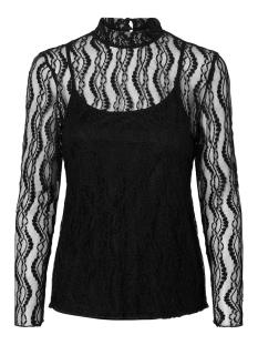 Vero Moda T-shirt VMANJI LS HIGHNECK TOP JRS 10220390 Black