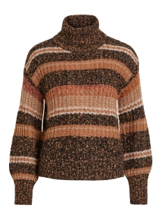 Object Trui OBJHAMY L/S KNIT PULLOVER 105 23030482 Brown Patina
