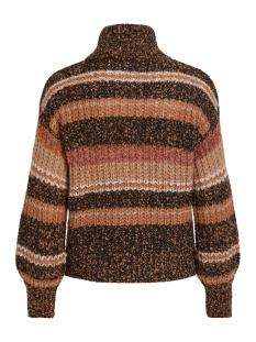 objhamy l/s knit pullover 105 23030482 object trui brown patina