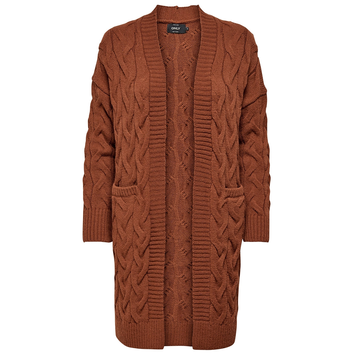 onlfreyah l/s cardigan knt 15183912 only vest ginger bread
