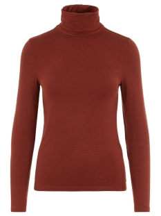 Vero Moda T-shirt VMAVA LULU LS ROLLNECK BLOUSE GA NOOS 10219220 Madder Brown