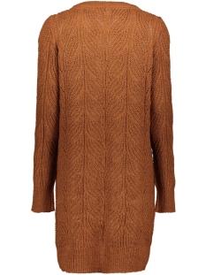 objnova stella l/s knit cardigan se 23030923 object vest brown patina/melange