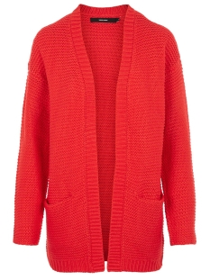 Vero Moda Vest VMNO NAME LS CARDIGAN COLOR 10192372 Chinese Red