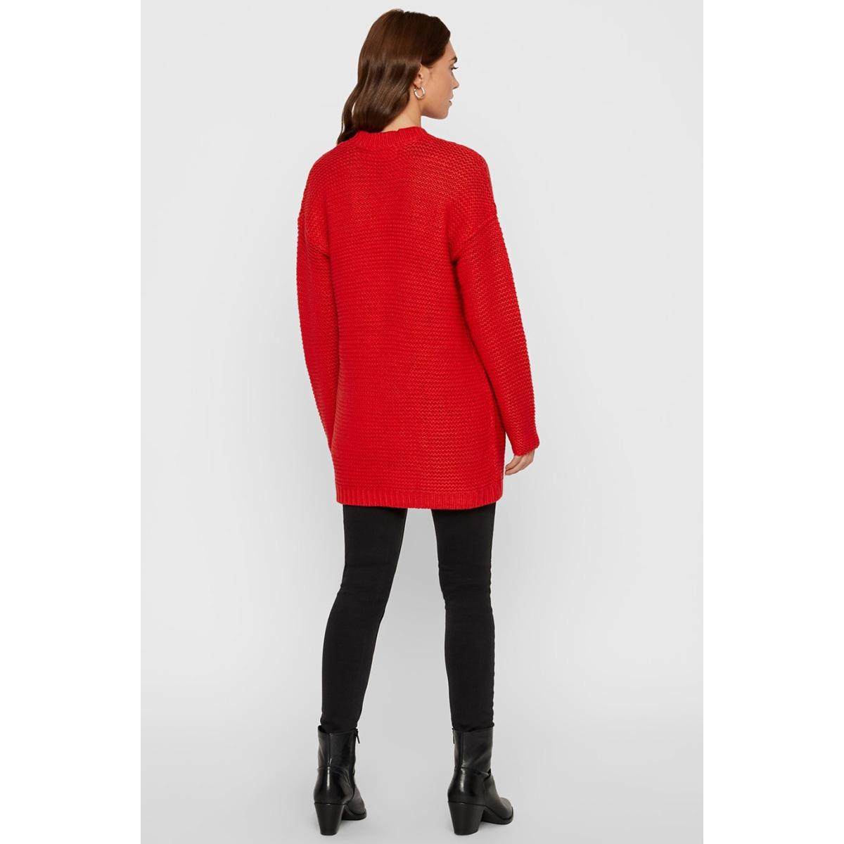 vmno name ls cardigan color 10192372 vero moda vest chinese red