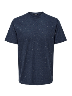 Only & Sons T-shirt ONSANGEOL SS AOP TEE 22014603 Dress Blues