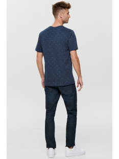 onsangeol ss aop tee 22014603 only & sons t-shirt dress blues