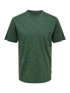 Only & Sons T-shirt ONSANGEOL SS AOP TEE 22014603 Trekking Green