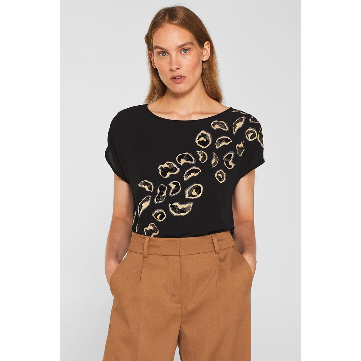 blousetop van een materiaalmix 109eo1k010 esprit collection blouse e001
