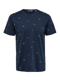 Only & Sons T-shirt ONSKANE SLIM SS DITSY TEE 22014935 Dress Blues