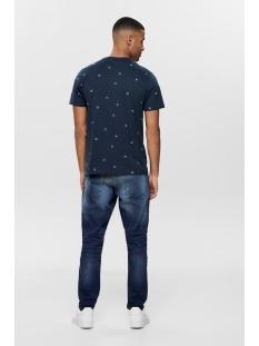 onskane slim ss ditsy tee 22014935 only & sons t-shirt dress blues