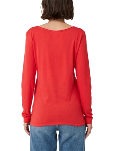 t shirt met lange mouwen en v hals 41910313221 q/s designed by t-shirt 3123