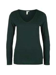 Q/S designed by T-shirt T SHIRT MET LANGE MOUWEN EN V HALS 41910313221 7962