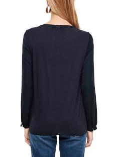 blouse van een materiaalmix met ruches 14910316911 s.oliver blouse 5959