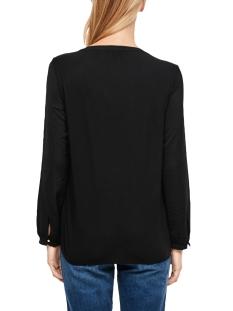 blouse van een materiaalmix met ruches 14910316911 s.oliver blouse 9999