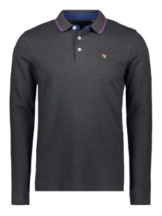 Jack & Jones Polo JPRPAULOS PLAY BLU. POLO LS 12159017 Dark Grey Melange/MIXED WITH
