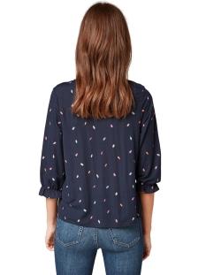 shirt met plooien aan de halslijn 1015860xx71 tom tailor t-shirt 20343