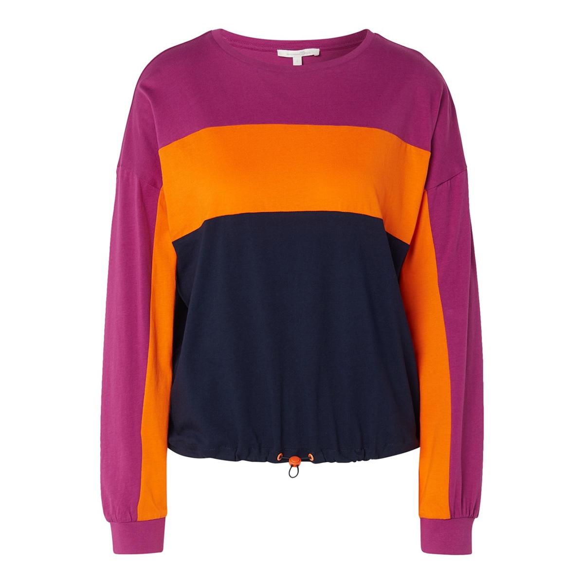 t shirt met elastisch koord 1014607xx71 tom tailor t-shirt 10360
