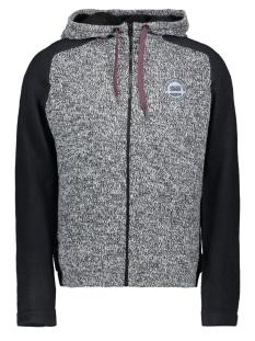 jcomixed knit cardigan 12165126 jack & jones vest black navy/ knit fit