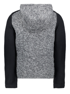 jcomixed knit cardigan 12165126 jack & jones vest black navy/ knit fit