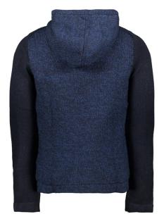 jcomixed knit cardigan 12165126 jack & jones vest sky captain/knit fit