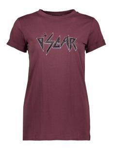 Oscar Jane T-shirt T SHIRT LOTTE 0JW1960 RED BORDEAUX 410