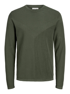 Jack & Jones Trui JCOMOON KNIT CREW NECK 12163320 Forest Night/KNIT FIT
