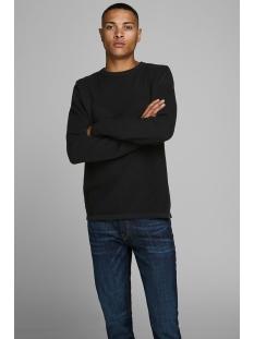 jcomoon knit crew neck 12163320 jack & jones trui black/knit fit