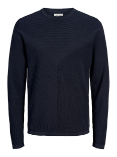 Jack & Jones Trui JCOMOON KNIT CREW NECK 12163320 Sky Captain/KNIT FIT