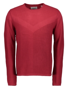 Jack & Jones Trui JCOMOON KNIT CREW NECK 12163320 Rio Red/KNIT FIT
