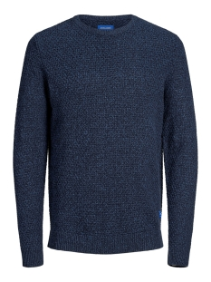 Jack & Jones Trui JORSILAS KNIT CREW NECK 12162249 Sky Captain/KNIT FIT