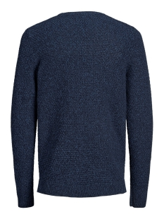 jorsilas knit crew neck 12162249 jack & jones trui sky captain/knit fit