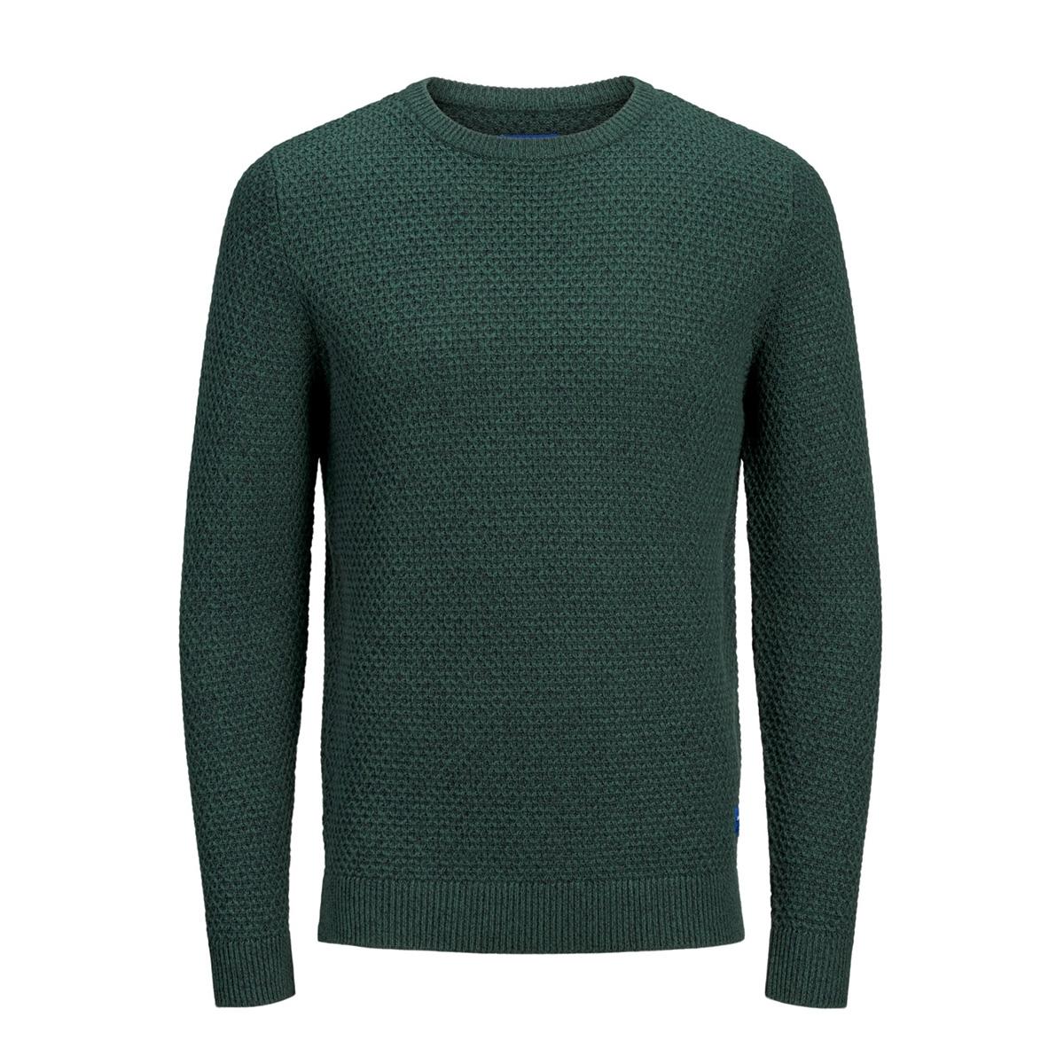 jorsilas knit crew neck 12162249 jack & jones trui sea moss/knit fit