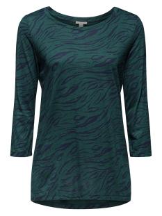 Esprit T-shirt SHIRT VAN GLADDE JERSEY MET PRINT 109EE1K014 E375