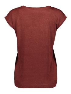 pcbillo tee lurex stripes noos 17078572 pieces t-shirt madder brown/lurex tone