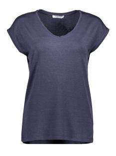 Pieces T-shirt PCBILLO TEE LUREX STRIPES NOOS 17078572 Ombre Blue/LUREX TONE