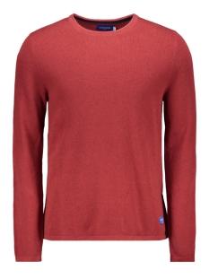 jornat knit crew neck 12161954 jack & jones trui brick red/knik fit