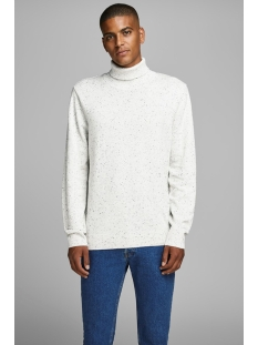 jpraiden knit roll neck 12164344 jack & jones trui cloud dancer